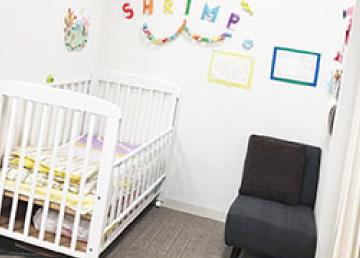 託児所のある美容室 授乳スペース