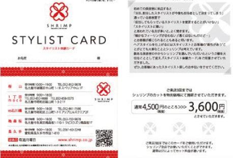 スタイリスト体験カード